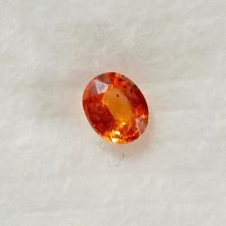 Safír oranžový 0,71 ct Songea