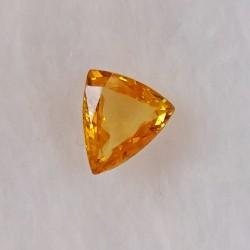 Safír žlutý, zahřívaný, 0,62 ct